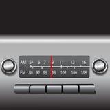 radio för bilinstrumentbrädafm Arkivbilder