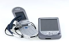 radio för mikrofonpdatelefon Fotografering för Bildbyråer