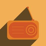 Radio flat icon silhouette Stock Photography
