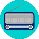 Radio flat  Royalty Free Stock Photos