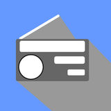 Radio flath design Royalty Free Stock Image