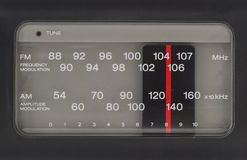 Radio FM AM. Radio tuner closeup with fm and mw station Stock Images
