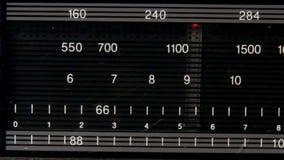 Radio FM-AM Tuner. Closeup on a Radio FM-AM Tuner stock footage