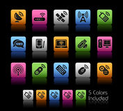 radio för colorboxkommunikationsserie Fotografering för Bildbyråer