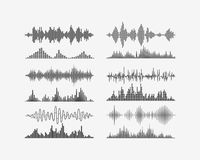 Radio frequency digital waves forms. Vector signal waves. Radio frequency waves or sound analog and digital waves forms Stock Photos