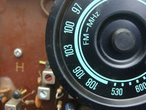 The radio frequency display Stock Photography