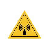 Radio frequency radiation sign vector design Royalty Free Stock Image