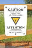 Radio Frequency Warning Sign Stock Image