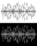 Radio frequency waves or sound analog and digital  forms. abstract audio line . Eps 10 vector illustration Stock Images