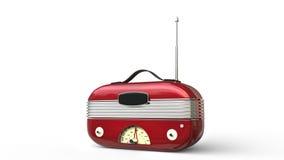 Radio fresca roja metálica del vintage stock de ilustración