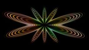 Radio gaga too, widescreen. Widescreen fractal with light color symmetry Royalty Free Stock Photos