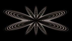 Radio gaga widesceen. Widescreen fractal in grayscale symmetry Royalty Free Stock Photo