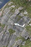 Radio gecontroleerd modelvliegtuig tijdens de vlucht Royalty-vrije Stock Fotografie