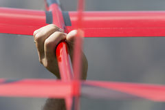 Radio gecontroleerd modelvliegtuig tijdens de vlucht Stock Afbeelding