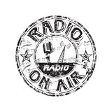Radio grunge rubber stamp Stock Photography