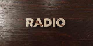 Radio - grungy wooden headline on Maple  - 3D rendered royalty free stock image Stock Photos