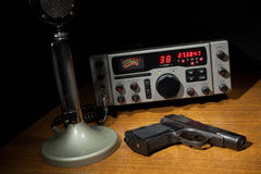 Radio and handgun Royalty Free Stock Image