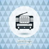Radio Icon Logo Stock Images