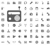 Radio icon. Media, Music and Communication vector illustration icon set. Set of universal icons. Set of 64 icons.  Royalty Free Illustration