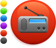 Radio icon on round internet button Royalty Free Stock Image