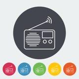 Radio icon. Radio. Single flat icon on the circle. Vector illustration stock illustration