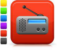 Radio icon on square internet button Royalty Free Stock Photos