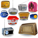 Radio Icons. Vector illustration of ten different high detailed radio icons Stock Image