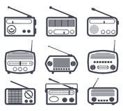 radio icons, vector  Royalty Free Stock Images