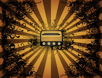 Radio illustration Stock Images