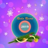 Radio im neuen Jahr lizenzfreie stockfotografie
