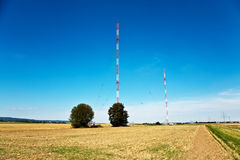 Radio installation in golden acres Stock Image