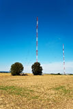 Radio installation in golden acres Royalty Free Stock Images