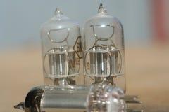 Radio lamp amplifier. Electronic vacuum tube. Stock Images