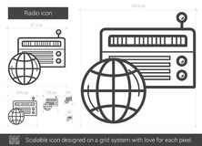 Radio line icon. Stock Photography
