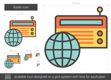 Radio line icon. Stock Image