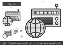 Radio line icon. Royalty Free Stock Photos