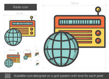 Radio line icon. Royalty Free Stock Photography