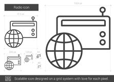 Radio line icon. Stock Images