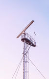 Radio locator at Viewing tower near Southern Pier in Ventspils Royalty Free Stock Photography