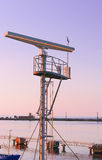 Radio locator at Viewing tower near Southern Pier of Ventspils Stock Images