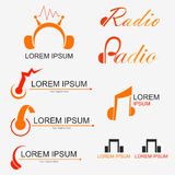 Radio Logo. For business about music, radio or entertainment - vector royalty free illustration