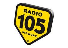 Radio 105 Logo. Logo jog format available royalty free illustration