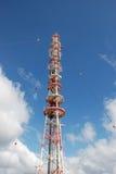 Radio mast. A radio mast on Helgoland Stock Photography