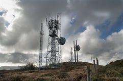 Radio Mast on Hillside Royalty Free Stock Images