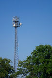 Radio mast for mobile communications Royalty Free Stock Image