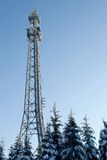 Radio mast in the winter Royalty Free Stock Photo