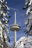 Radio mast in winter Royalty Free Stock Image