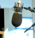 Radio microphone. Radio station microphone on its own Stock Image