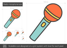 Radio microphone line icon. Royalty Free Stock Photo