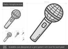 Radio microphone line icon. Royalty Free Stock Photography